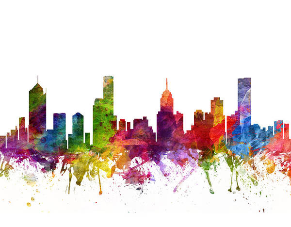 Splash Drawing - Melbourne Australia Cityscape 06 by Aged Pixel