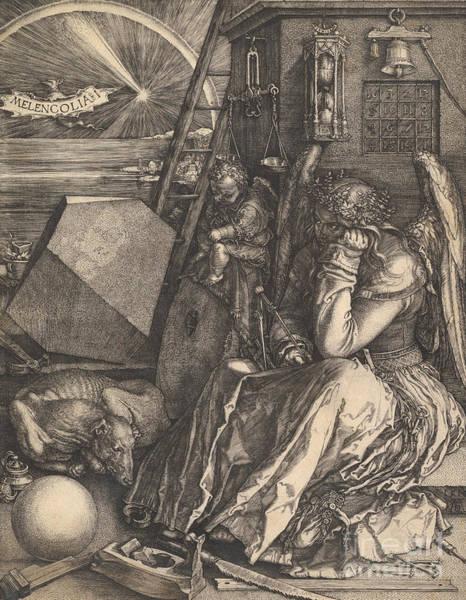 Sixteenth Wall Art - Drawing - Melencolia I, 1514  by Albrecht Durer