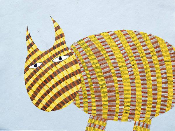 Fat Cat Painting - Mellisas Cat Honeybee by Sumit Mehndiratta