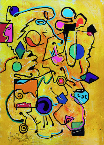 Painting - Mellow Yellow 1 by Jo-Anne Gazo-McKim
