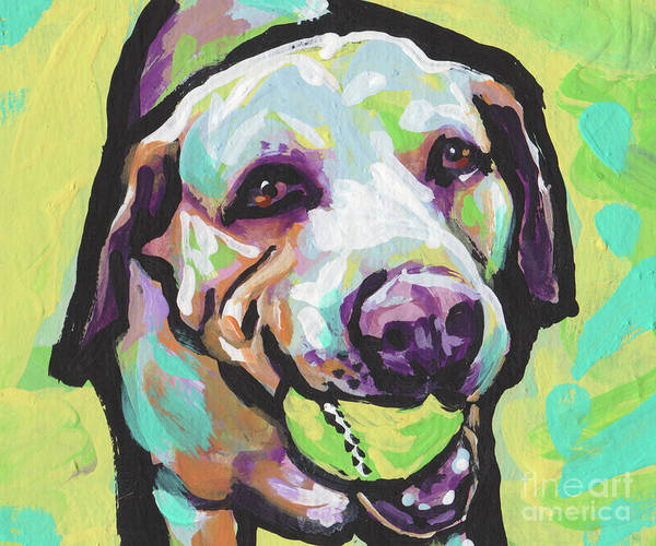 Wall Art - Painting - Mellow Yellow Lab by Lea