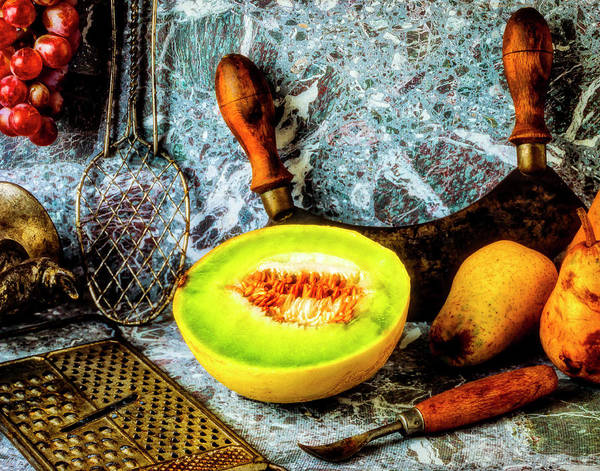 Wall Art - Photograph - Melon Pears Still Life by Garry Gay
