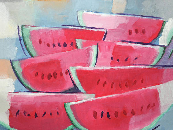 Wall Art - Painting - Melons X L by Lutz Baar