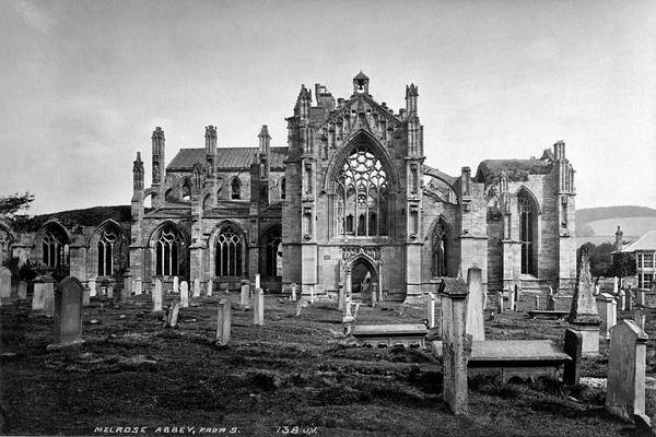 Photograph - Melrose Abbey by Lee Santa