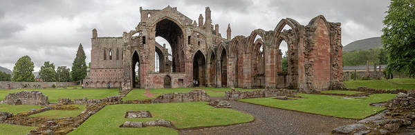 Photograph - Melrose Abbey Panorama by Teresa Wilson