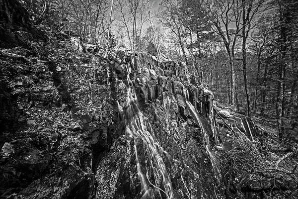 Photograph - Melrose Ma Cascade Falls Waterfall Black And White by Toby McGuire