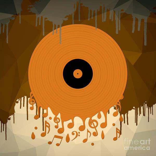 Record Album Wall Art - Digital Art - Melting Music by Peter Awax
