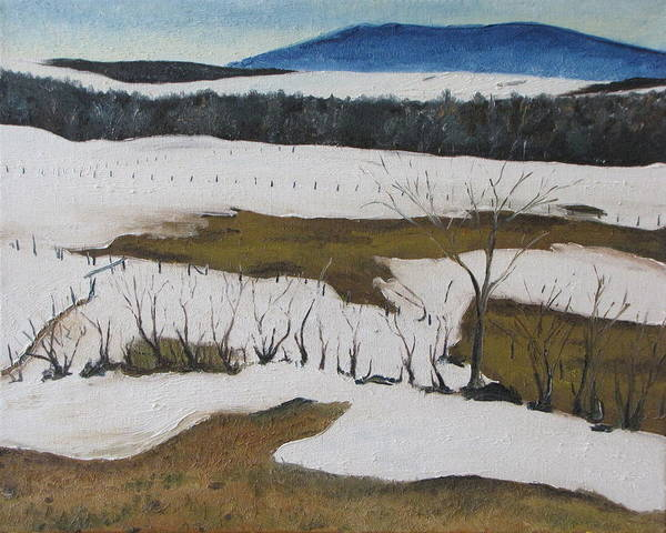 Wall Art - Painting - Melting Snow In The Appalachians Quebec Canada by Francois Fournier