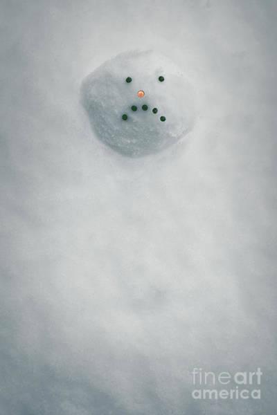 Wall Art - Photograph - Melting Snowman Head by Amanda Elwell