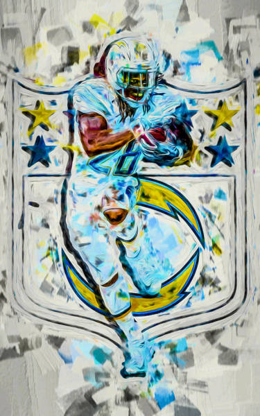 Photograph - Melvin Gordon La Chargers 2b Plight by David Haskett II