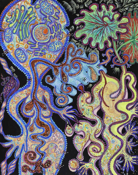 Cell Membrane Painting - Membranes 1 by Shoshanah Dubiner
