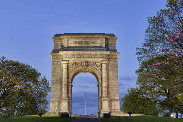 Continental Army Photograph - Memorial Arch Valley Forge by John Greim