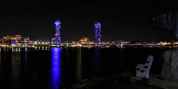 Photograph - Memorial Bridge At Night by Natalie Rotman Cote