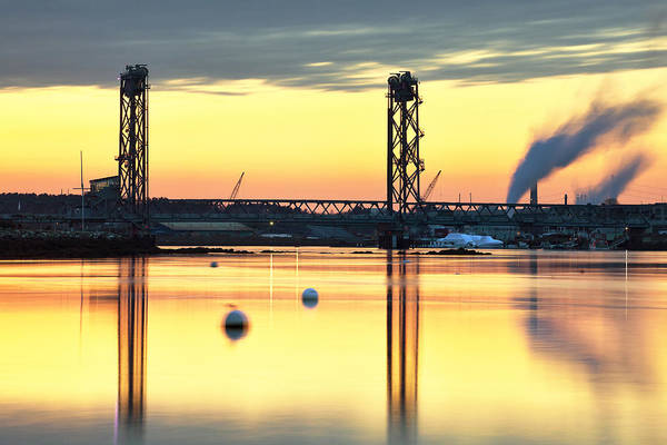 Wall Art - Photograph - Memorial Bridge Reflections - Portsmouth by Eric Gendron