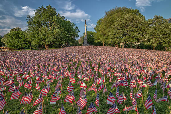 Photograph - Memorial Day At Boston's Soldiers And Sailors Monument by Kristen Wilkinson