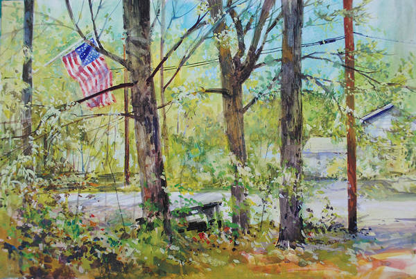 Painting - Memorial Day Flag by P Anthony Visco