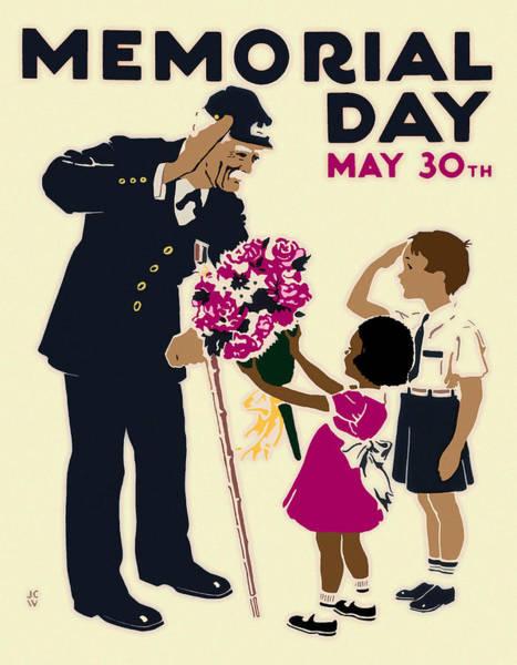 Digital Art - Memorial Day Poster Wpa by Joy McKenzie
