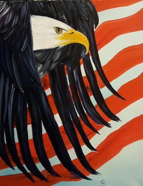 Painting - Memorial Eagle             28 by Cheryl Nancy Ann Gordon
