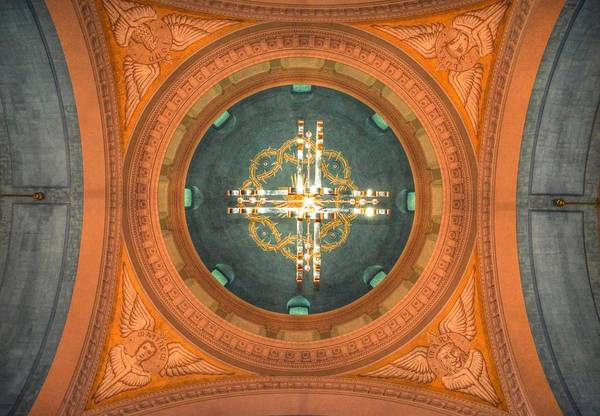Flagler Photograph - Memorial Presbyterian Church Ceiling by Linda Covino