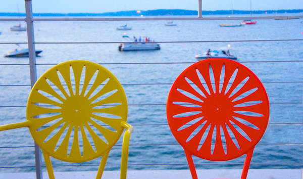 Wi Photograph - Memorial Union Terrace Chairs by Art Spectrum