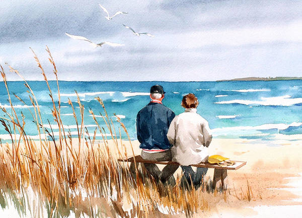 Beach Painting - Memories by Art Scholz