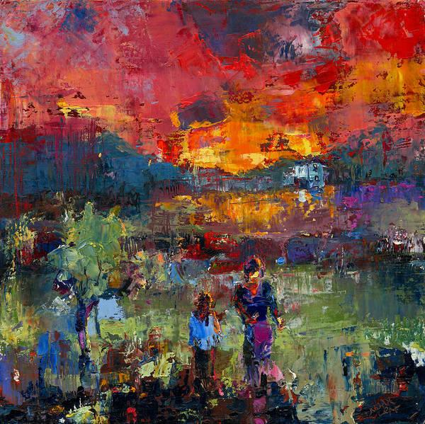 Primal Painting - Memories Embrace by Noah Mendelson