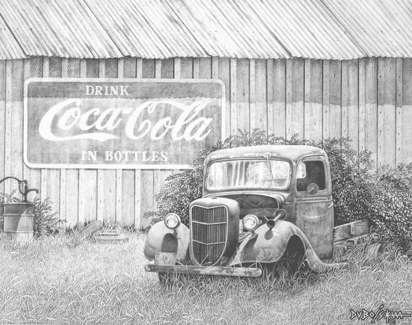Old Truck Drawing - Memories by Howard Dubois