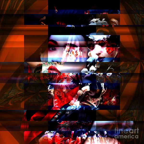 Digital Art - Memories Of A Geisha by John Rizzuto