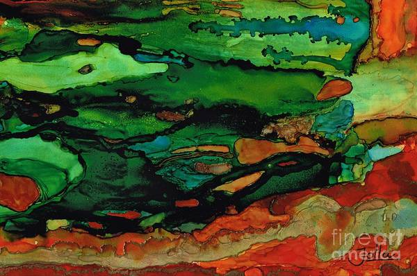 Painting - Memories Of Emerald Waves by Jolanta Anna Karolska