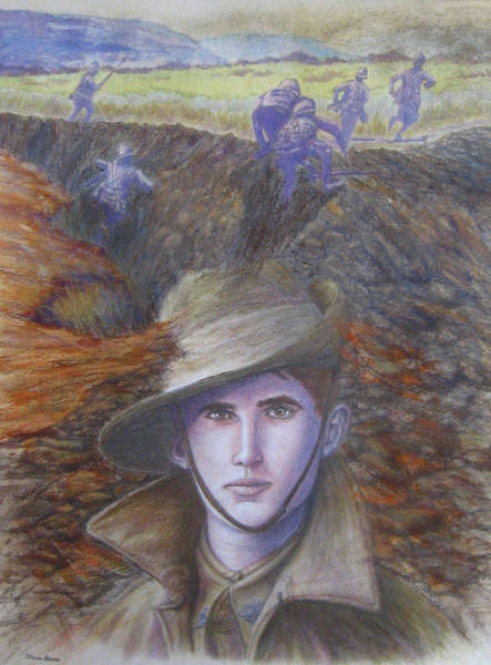 Battlefield Mixed Media - Memories Of Gallipoli by Diane Quee