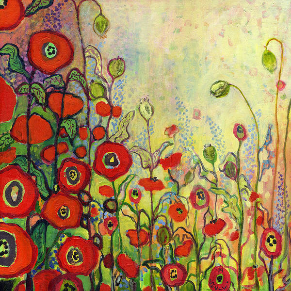 Red Poppies Wall Art - Painting - Memories Of Grandmother's Garden by Jennifer Lommers