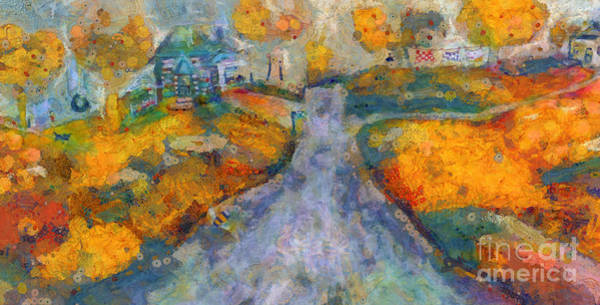 Painting - Memories Of Home In Autumn by Claire Bull