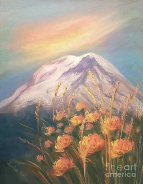 Mount Rainier Painting - Memories Of Mount Rainier by Yoonhee Ko