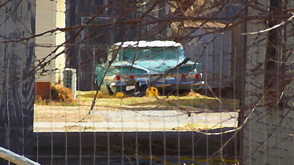 Memories Of Old Blue, A Car In Shantytown.  Art Print