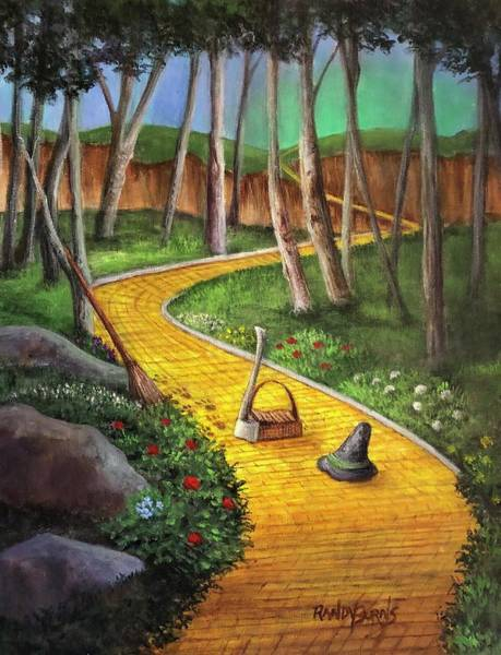 Yellow Brick Road Wall Art - Painting - Memories Of Oz by Randy Burns