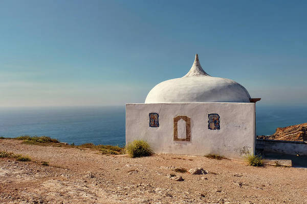 Photograph - Memory Chapel Monastery On The Cliffs Of Cabo Espichel Sesimbra  by Menega Sabidussi