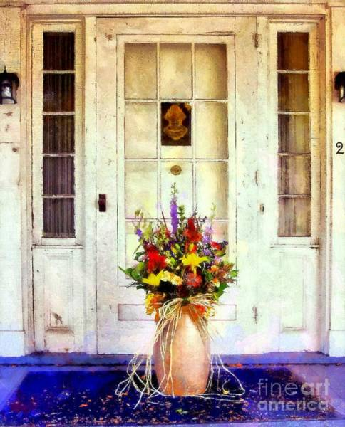 Flowers In A Vase Photograph - Memory Lane by Janine Riley