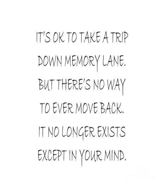 Digital Art - Memory Lane Poem by Andee Design