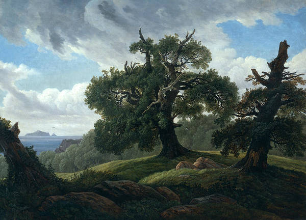 Baltic Sea Painting - Memory Of A Wooded Island In The Baltic Sea by Carl Gustav Carus