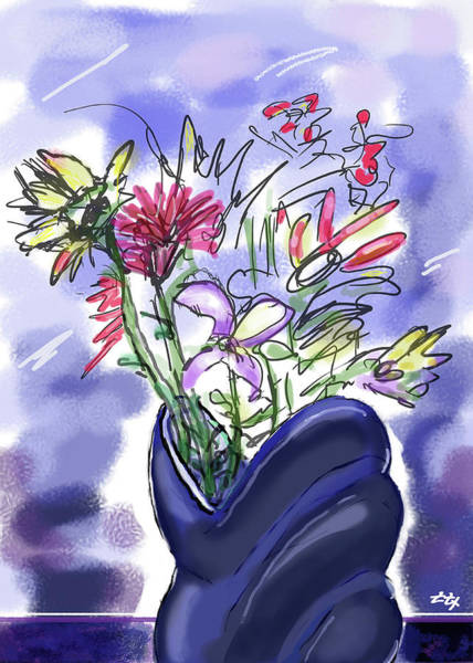 Art Print featuring the digital art Memory Of Spring by Teresa Epps