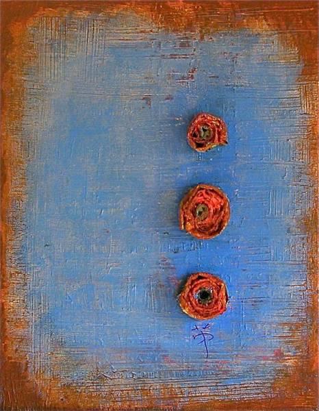 Origami Painting - Memory Roll by Wonju Hulse
