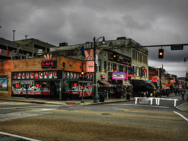 Wall Art - Photograph - Memphis - Beale Street 002 by Lance Vaughn