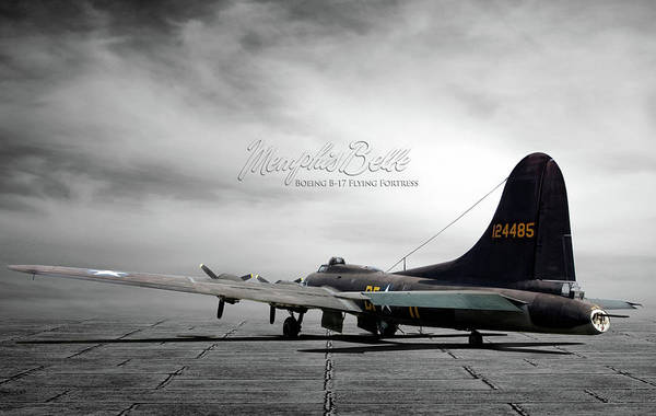 Wall Art - Digital Art - Memphis Belle Boeing B-17 Flying Fortress by Peter Chilelli
