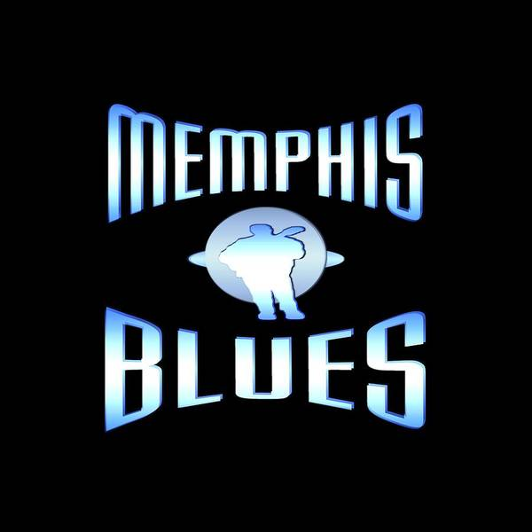 Clothing Design Mixed Media - Memphis Blues Music Design by Peter Potter