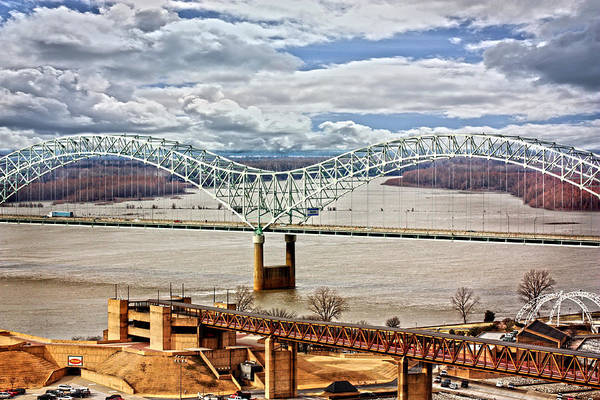 Ar Photograph - Memphis Bridge Hdr by Suzanne Barber