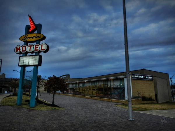 Photograph - Memphis - Dark Clouds Over The Lorraine Motel by Lance Vaughn