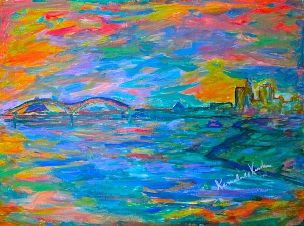 Art Print featuring the painting Memphis Edge  by Kendall Kessler