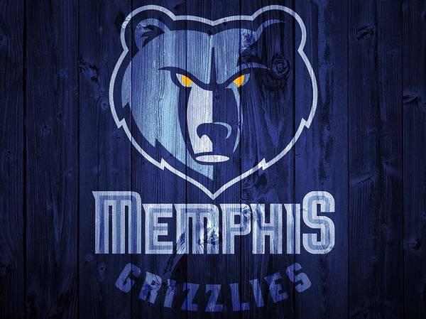 Vancouver Digital Art - Memphis Grizzlies Barn Door by Dan Sproul