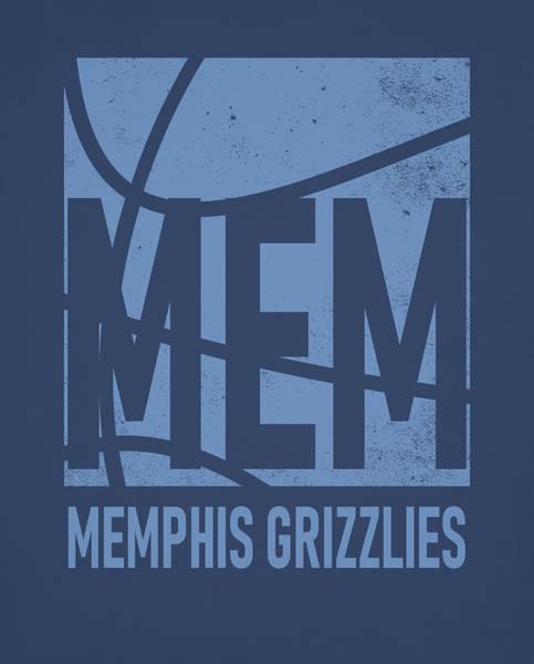 Memphis Grizzlies Wall Art - Mixed Media - Memphis Grizzlies City Poster Art by Joe Hamilton