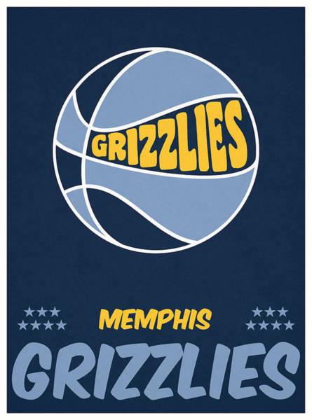 Memphis Grizzlies Wall Art - Mixed Media - Memphis Grizzlies Vintage Basketball Art by Joe Hamilton